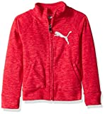 PUMA Big Girls' Space Dye Zip-up Jacket, Love Potion, Large (12/14)