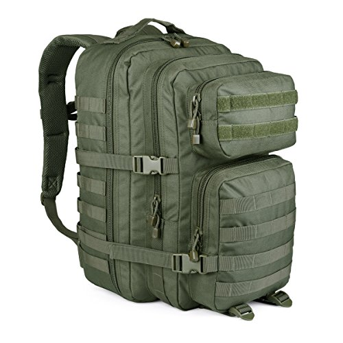 WIDEWAY Military Tactical Backpack 50L Survival Gear Backpacking Large Hydration Molle Bug Out Bag 3 Day Assault Pack Rucksacks Daypack for Outdoor Travel Hunting Camping Hiking Shooting Olive Green (Hiking Olive Backpack)