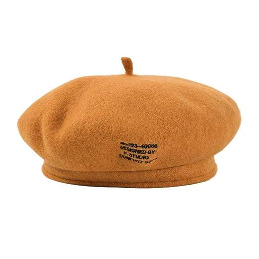 KFEK Boina Damas otoño e Invierno Nuevo Sombrero japonés Color ...