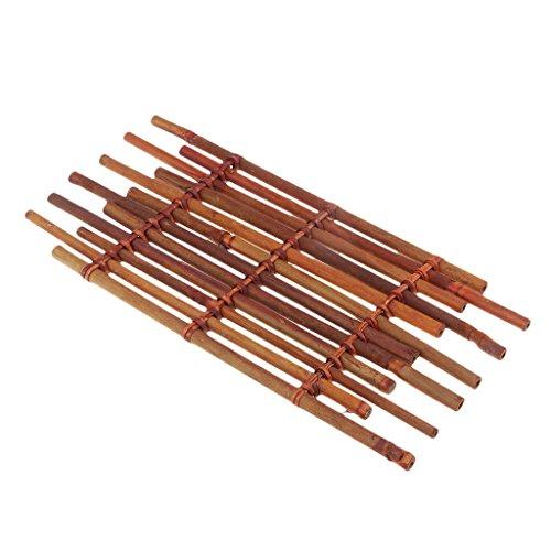 Flameer Handmade Vintage Bamboo Gongfu Tea Ceremony Teacup Coaster for Tea Room