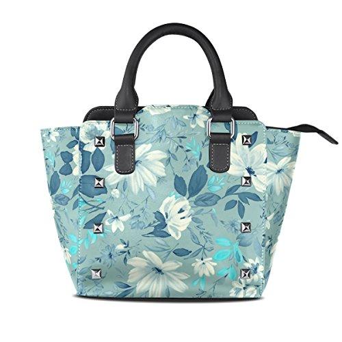 Women's Tote Bags Vintage Handbags Floral TIZORAX Vintage Floral TIZORAX Shoulder Leather Women's vxYp58q