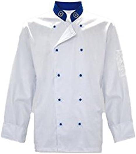 Chaqueta casaca cocinero chef Modelo Europeo algodón blanco y ...