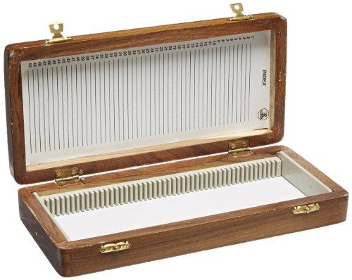 United Scientific WSB050 Wooden Slide Storage Box, Holds 50 Slides by United Scientific Supplies