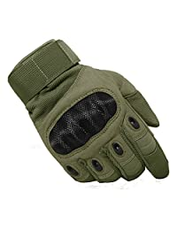 TACVASEN Men's Tactical Military Rubber Hard Knuckle Outdoor Gloves for Camping Cycling Motorcycle Hiking