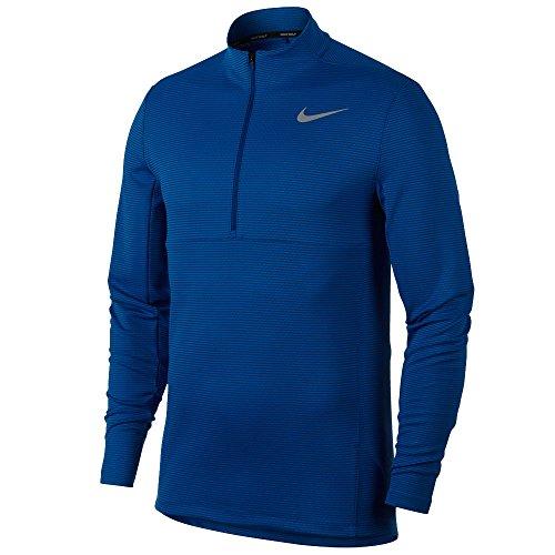 (NIKE Men's AeroReact Top Half Zip Golf Pullover (Blue Jay/Black/Flat Silver, Large))