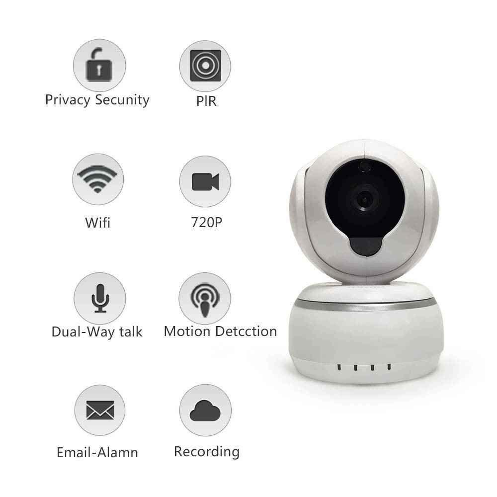 Auto-Alarmanlagen ip-kamera,Alarm Informationen für MacBook und Windows PC,iOS/Android -weiß,Indoor Baby Monitor Heim Home Security Überwachungskamera,Webcams Mikrofone Überwachungskameras,720P Wlan IP Überwachungskamera,QR Scanmail,die mobile Benachrichtigung,Remote-Wiedergabe,IR Nachtsicht,pet monitor Überwachungskamera,WiFi IP Sicherheits kamera