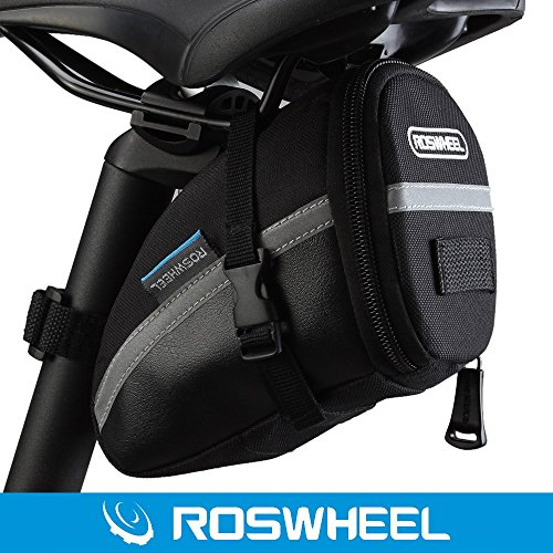 ROSWHEEL Cycling Saddle Bag Bicycle Bike Storage Bag with Velcro for Outdoor Waterproof Mountain - Mall Mountain Brook
