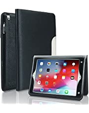 Etui na iPad 2/3/4 FANSONG skóra PU Smart Cover [stojak z klapką, funkcja budzenia / uśpienia] z uchwytem na karty etui na ołówki pasek do Apple iPad 2/3/4 (czarne)