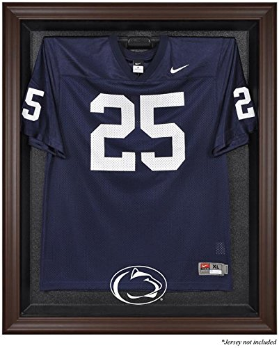 Sports Memorabilia Penn State Nittany Lions Brown Framed Logo Jersey Display Case - College Jersey Logo Display Cases - Display Logo Case Browns