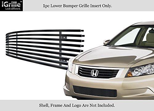 - Fits 08-10 Honda Accord Sedan Black Bumper Stainless Steel Billet Grille Insert #H66590J