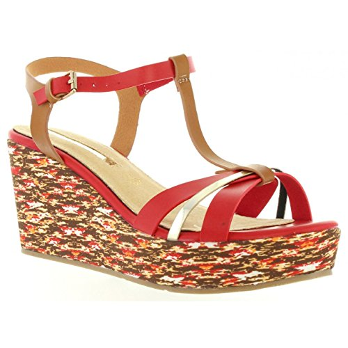 67dfa7944c Chaussures compensées pour Femme MARIA MARE 66200 BUFFALO ROJO ...