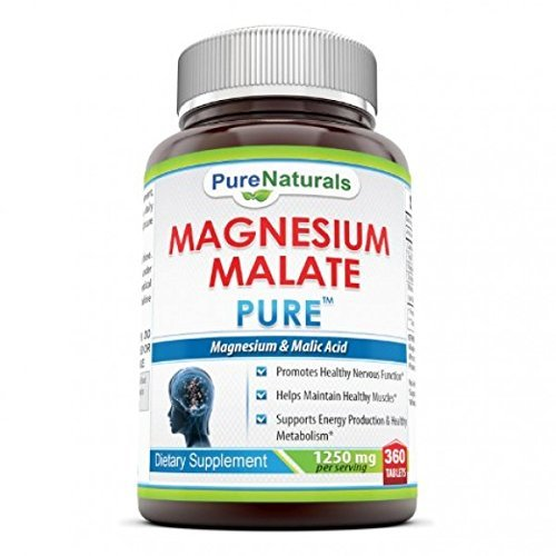 Pure Naturals Magnesium Malate, 1250 Mg, 360 Count