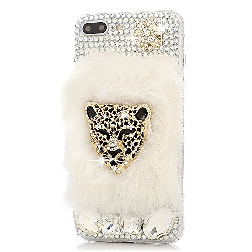 Crystal Case Generation Rubber (STENES iPod Touch 5/6th Case - [Luxurious Series] 3D Handmade Shiny Crystal Sparkle Bling Case with Retro Bowknot Anti Dust Plug - Crystal Leopard Villus Flowers/Gold)