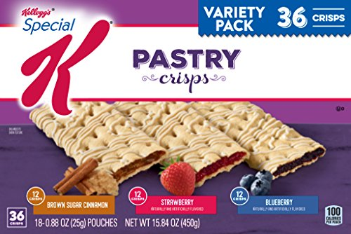Pastries Pack Variety (Special K Variety Pack, Brown Sugar Cinnamon/Strawberry/Blueberry Crisps, 36 ct)