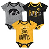 Gen 2 NCAA Iowa Hawkeyes Newborn & Infant Little Tailgater Bodysuit, 18 Months, Black