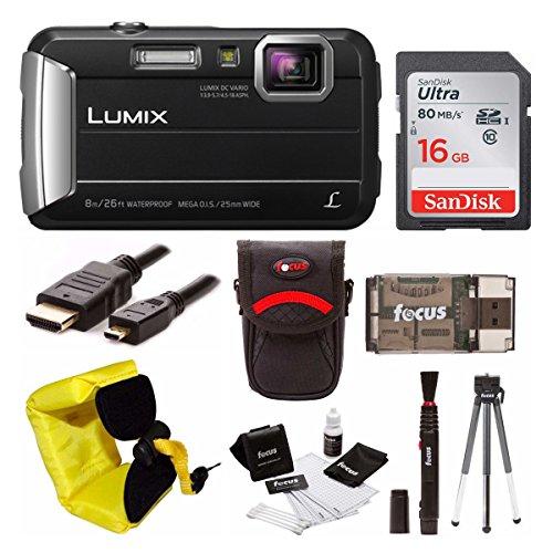Panasonic Lumix DMC-TS30 Digital Camera (Basic, Black) - Panasonic Sdhc Class 6