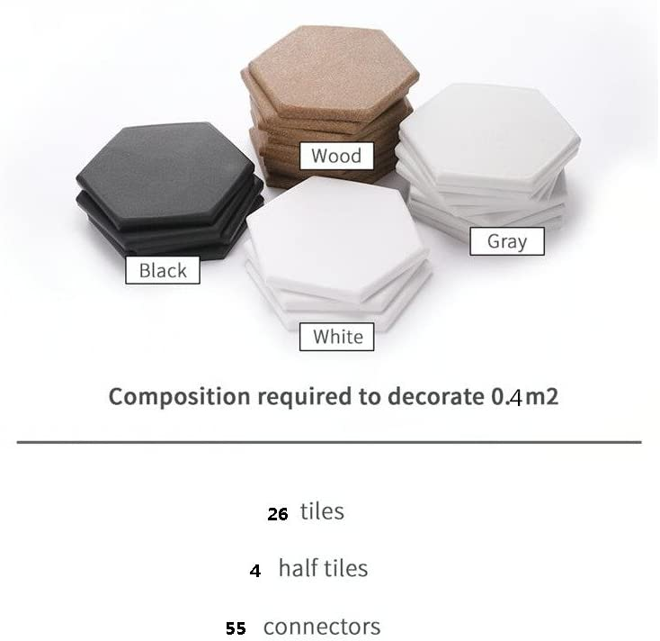 26Tiles 4half Tiles 55connectors I-DEAK Tiler WPC Composite Deck Tiles and Deck for Indoor and Balcony Ground or Wall Adornment Applications Interlocking Flooring Tiles in Solid Teak , Gray
