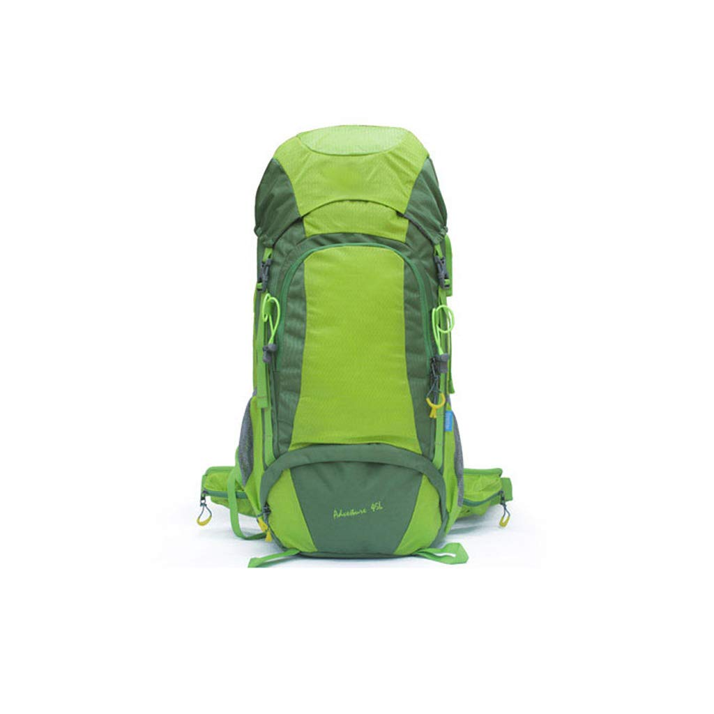 CJH Mountaineering Bag Large Capacity Backpack Men and Women Travel Backpack Outdoor Camping Equipment 45L Breathable Camping Bag Green