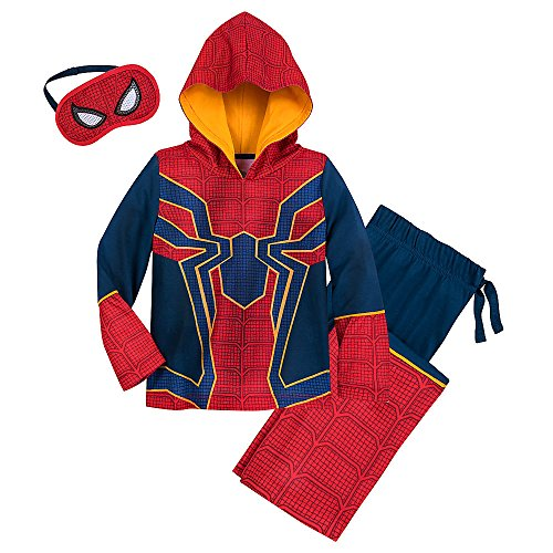 Marvel Spider-Man Glow-In-The-Dark Costume Sleep Set For Boys