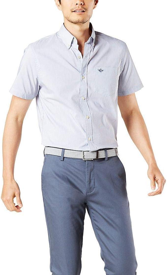 dockers Short Sleeve Performance Seersucker Shirt Sudadera para Hombre: Amazon.es: Ropa y accesorios