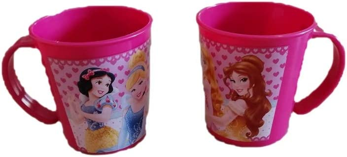 ALMACENESADAN 2239; Pack 2 Tazas Micro Disney Princesas; Capacidad 280 ml; Producto de plástico. No BPA.