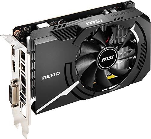 MSI Gaming GeForce GTX 1650 128-Bit HDMI/DP/DVI 4GB GDRR6 HDCP Support DirectX 12 VR Ready ITX Graphics Card (GTX 1650 D6 AERO ITX OCV1) (G165D6AIC1)