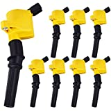 Pack of 8 Curved Boot Ignition Coil for Ford...