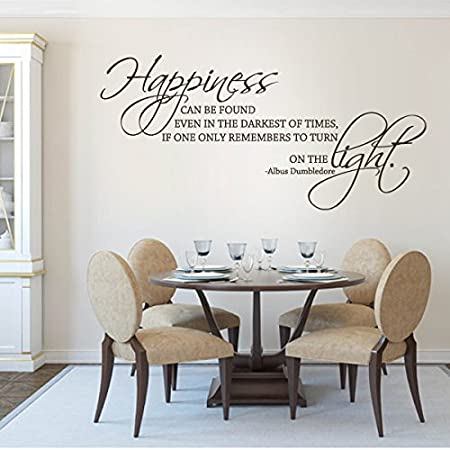 Movie Quotes Wall Stickers Harry Potter Wall Sticker Wall Art Living Room Quote Wall Stickers Happiness Can Be Found Even In The Darkest Of