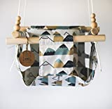 Indoor/Outdoor Mountain Nursery Baby and Toddler Fabric Swing