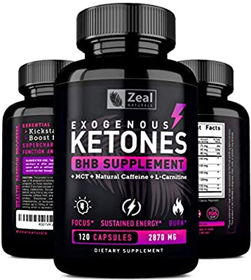 BHB Exogenous Ketones Pills (2700mg | 120 Capsules) Best Keto Weight Loss Supplement w Beta Hydroxybutyrate BHB Salts, MCT Oil & Natural Caffeine -Ignite Ketosis, Boost Energy & Support Ketogenic Diet