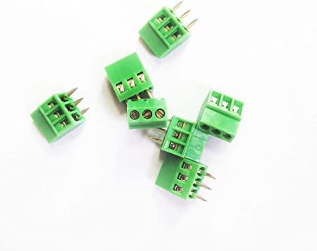 50pcs Plug-in Screw Terminal Block Connector 5mm Pitch PCB Mount 2Poles 2-Pin