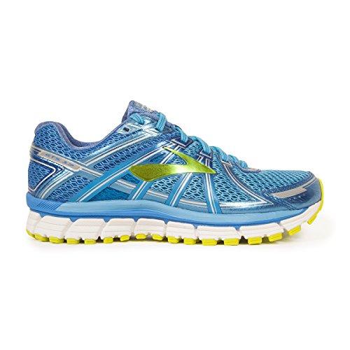 0a41d3efdbd Brooks Adrenaline GTS 17 Azure Blue Palace Blue Lime Punch Women s Running  Shoes best
