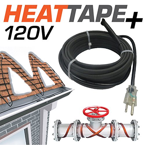 "Warmall 6 Feet Heavy Duty Heat Tape + Plug-in Self-Regulating Cable 120 Volt with 48"" Lead and Plug by Warmall"