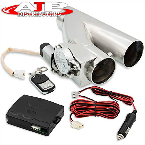 "Universal Fit 3"" Electric Exhaust Catback/Downpipe Cutout Cut Out Valve System Kit with Remote"