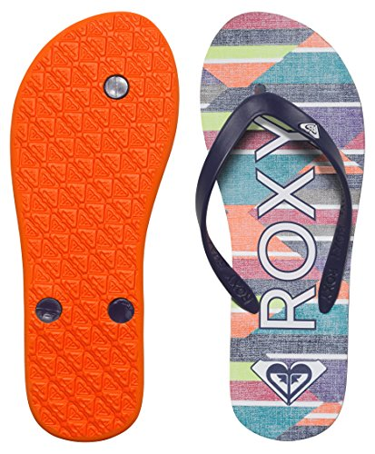 Roxy Tahiti V J Sndl Spk - Sandalias de dedo Mujer Varios Colores - Mehrfarbig (Stripe Barely Pink)