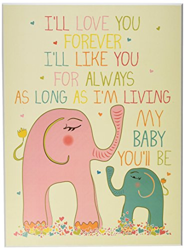 Forever Framed Panel Print - The Kids Room by Stupell Art Wall Plaque, I'll Love You Forever