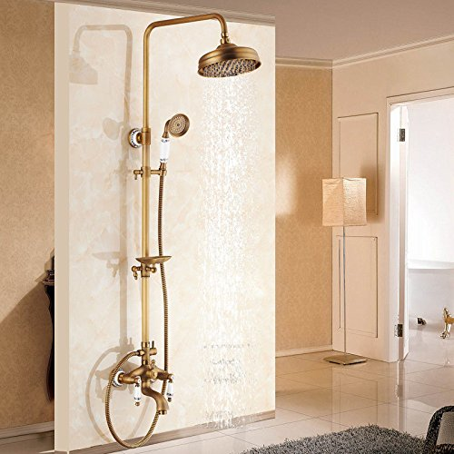 A Hlluya Professional Sink Mixer Tap Kitchen Faucet The copper bathroom hot and cold shower faucet wall mounted showers taps,