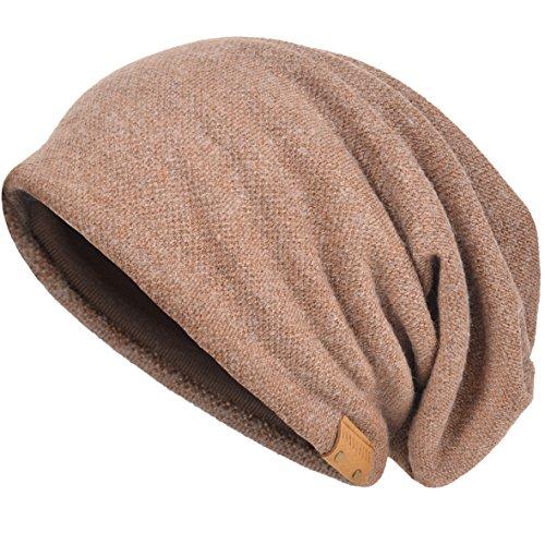 VECRY Men's Cool Cotton Beanie Slouch Skull Cap Long Baggy Hip-hop Winter Summer Hat - Cap Oversized Wool