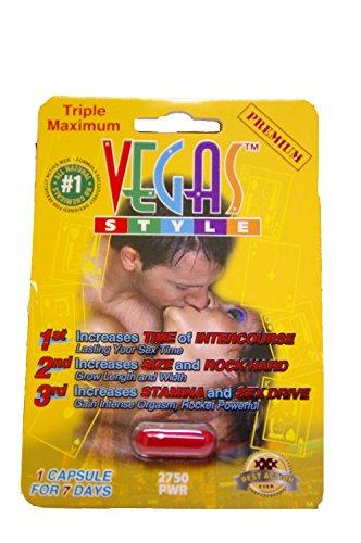 Triple Premium máximo 7 días píldoras masculinas del realce píldora 1250mg-5 estilo de Vegas!