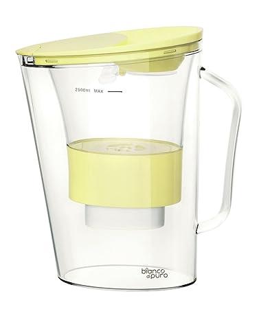 Superior Bianco Dipuro Aqualita 2,5L Wasserfilter + 1 Kartusche Trinkwasser Filter  (Zitrone)