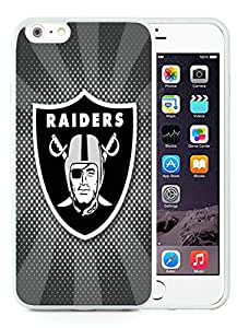 Oakland Raiders 06 White Hottest Sell Customized iPhone 6plus 5.5 Inch TPU Case