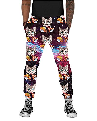 UNIFACO Mens Printed Graphric Sports Jogger Pants Baggy Sweatpants with Drawstring