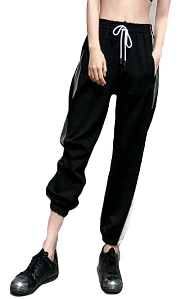 4578e12bdd5 Lutratocro Women Plus Size Stylish Sports Drawstring Jogger Hip Hop Pants  at Amazon Women s Clothing store