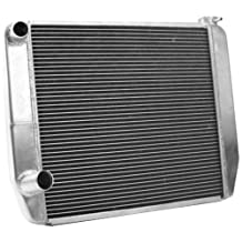 "Griffin Radiator 1-59201-X MaxCool 23"" x 16"" 2-Row Asphalt Modified Race Radiator with 1.25"" Tube"