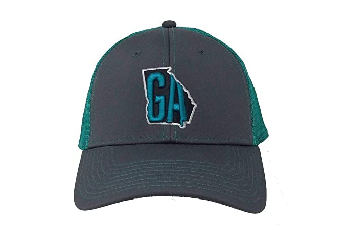 sale retailer 15677 64d6e SouthFitters Georgia State Outline 3D Embroidered Trucker Hat-greyblackteal