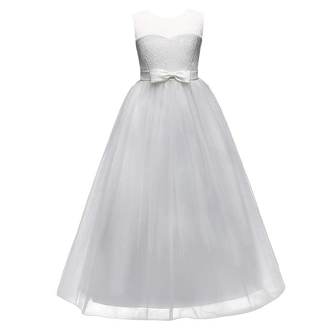 Vestito Elegante da Ragazza Festa Cerimonia Matrimonio Damigella Abito da  Donna Sposa 9b0f168b6b8