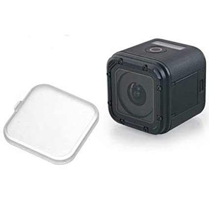MadridGadgetStore® Cubierta Tapa Protectora Protector de Objetivo Lente Semi-Transparente para Cámara Go Pro GoPro HD Hero5 Hero4 Hero 5 4 Session ...