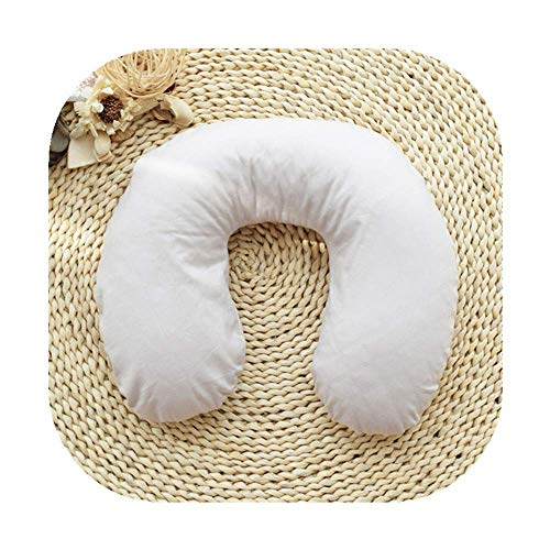Edomi Buckwheat U Shaped Pillow, Cool Travel Neck Pillow, Neck Support Head Pillow, Sleep Pillow for Neck Pain Relief Side Sleepers -Natural Buckwheat Hulls, Concealed Zipper (Macaron Light Tan)