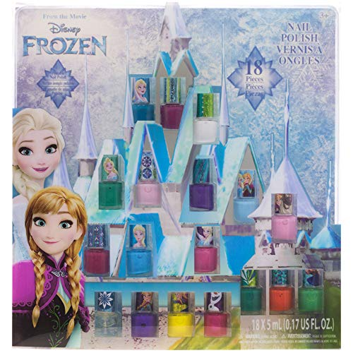 Townley Girl Disney Frozen Non-Toxic Peel-Off Nail Polish Set for Girls, Glittery and Opaque Colors, Ages 3+ - 18 Pack from Disney