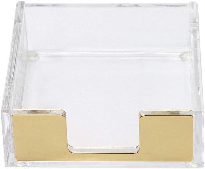 Details about  /Brass Gold Tone Ornate Desk Accessory Sticky Note Holder ~ Scrolled Vine Motif